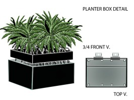 Living wall planter component